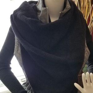 Black Infinity Blanket Scarf